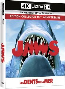 Les Dents de la mer (1975) de Steven Spielberg - Édition 45e anniversaire - Boîtier SteelBook Collector - Packshot Blu-ray 4K Ultra HD