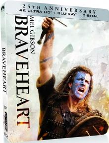 Braveheart (1995) de Mel Gibson - Steelbook - Packshot Blu-ray 4K Ultra HD