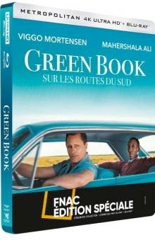 Green Book : Sur les routes du sud (2018) de Peter Farrelly - Steelbook Édition Spéciale Fnac - Packshot Blu-ray 4K Ultra HD