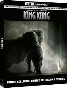 King Kong (2005) de Peter Jackson - Édition Collector Limitée SteelBook 3 disques - Packshot Blu-ray 4K Ultra HD
