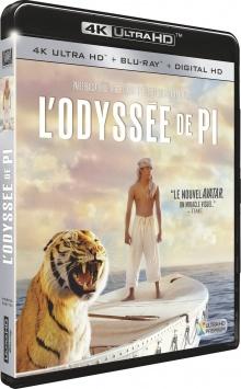 L'Odyssée de Pi (2012) de Ang Lee - Packshot Blu-ray 4K Ultra HD