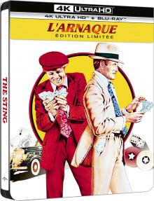 L'Arnaque (1973) de George Roy Hill - Édition Steelbook – Packshot Blu-ray 4K Ultra HD