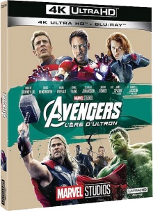 Avengers : L'ère d'Ultron (2015) de Joss Whedon – Packshot Blu-ray 4K Ultra HD