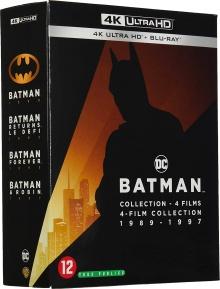 Batman : 4 films collection 1989-1997 – Packshot Blu-ray 4K Ultra HD