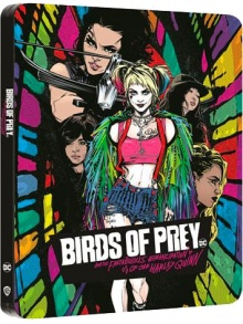 Birds of Prey et la fantabuleuse histoire de Harley Quinn (2020) de Cathy Yang - Édition Comic Steelbook - Packshot Blu-ray 4K Ultra HD