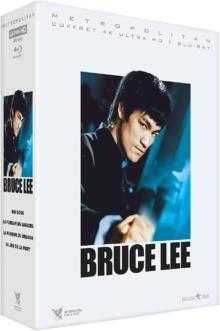 Bruce Lee – Coffret : Big Boss, La Fureur de vaincre, La Fureur du Dragon, Le Jeu de la mort – Packshot Blu-ray 4K Ultra HD