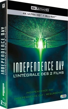 Coffret Independence Day + Independence Day : Resurgence – Packshot Blu-ray 4K Ultra HD