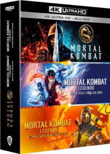 Coffret Mortal Kombat 3 films – Packshot Blu-ray 4K Ultra HD
