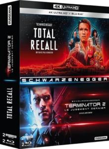 Coffret Schwarzenegger : Total Recall + Terminator 2 – Packshot Blu-ray 4K Ultra HD