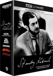 Coffret Stanley Kubrick : 2001, l'Odyssée de l'espace + Full Metal jacket + Shining + Orange mécanique + Spartacus – Packshot Blu-ray 4K Ultra HD