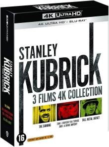 Coffret Stanley Kubrick 3 Films – Packshot Blu-ray 4K Ultra HD