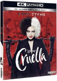 Cruella (2021) de Craig Gillespie – Packshot Blu-ray 4K Ultra HD