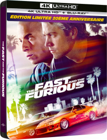 Fast And Furious (2001) de Rob Cohen - Édition Steelbook – Packshot Blu-ray 4K Ultra HD