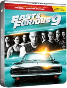 Fast & Furious 9 (2021) de Justin Lin - Édition boîtier SteelBook – Packshot Blu-ray 4K Ultra HD
