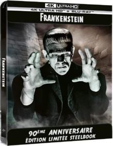 Frankenstein (1931) de James Whale - Édition 90ème Anniversaire - Boîtier SteelBook – Packshot Blu-ray 4K Ultra HD