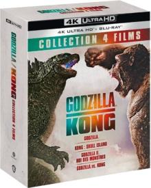 Godzilla + Godzilla : Roi des monstres + Kong : Skull Island + Godzilla vs Kong – Packshot Blu-ray 4K Ultra HD