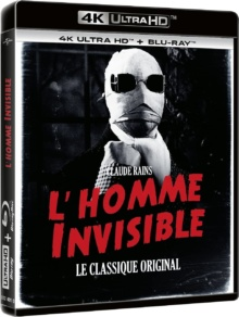 L'Homme invisible (1933) de James Whale – Packshot Blu-ray 4K Ultra HD