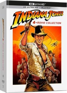 Indiana Jones (1981 – 2008) de Steven Spielberg – Coffret 4 Films – Packshot Blu-ray 4K Ultra HD