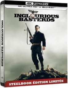 Inglourious Basterds (2009) de Quentin Tarantino - SteelBook édition limitée – Packshot Blu-ray 4K Ultra HD
