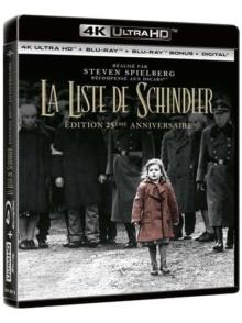 La Liste de Schindler (1993) de Steven Spielberg - Édition 25ème anniversaire – Packshot Blu-ray 4K Ultra HD