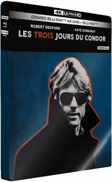 Les 3 jours du condor (1975) de Sydney Pollack - Édition Limitée SteelBook – Packshot Blu-ray 4K Ultra HD
