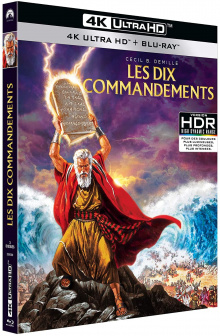 Les dix commandements (1956) de Cecil B. DeMille - Packshot Blu-ray 4K Ultra HD