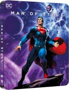 Man Of Steel (2013) de Zack Snyder - Édition Comic Steelbook - Packshot Blu-ray 4K Ultra HD
