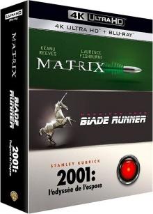 Matrix + Blade Runner + 2001 : l'odyssée de l'espace – Packshot Blu-ray 4K Ultra HD