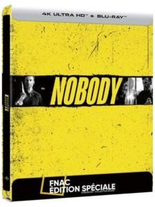 Nobody (2021) de Ilya Naishuller - Édition Spéciale Fnac Steelbook – Packshot Blu-ray 4K Ultra HD
