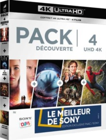Pack découverte : Passengers + Life - Origine inconnue + Jumanji + Spider-Man Homecoming - Exclusivité Fnac – Packshot Blu-ray 4K Ultra HD