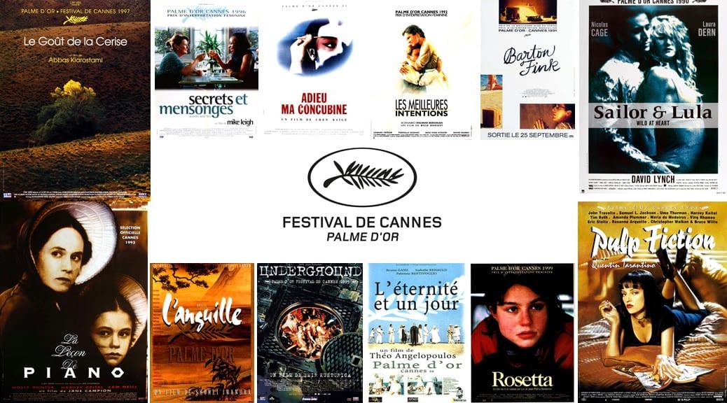 Les Palmes d'or du festival de Cannes - Image une les années 90