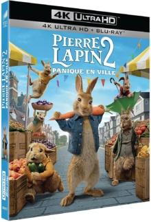 Pierre Lapin 2 : Panique en ville (2021) de Will Gluck – Packshot Blu-ray 4K Ultra HD
