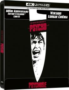 Psychose (1960) de Alfred Hitchcock - Steelbook Édition Limitée 60ème anniversaire – Packshot Blu-ray 4K Ultra HD