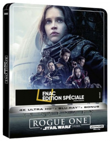 Rogue One : A Star Wars Story (2016) de Gareth Edwards - Steelbook Édition Spéciale Fnac - Packshot Blu-ray 4K Ultra HD