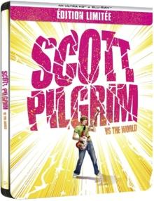 Scott Pilgrim (2010) de Edgar Wright - Édition Steelbook - Packshot Blu-ray 4K Ultra HD