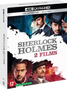 Sherlock Holmes + Sherlock Holmes 2 : Jeu d'ombres – Packshot Blu-ray 4K Ultra HD