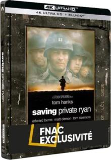 Il faut sauver le soldat Ryan (1998) de Steven Spielberg - Édition Limitée Exclusivité Fnac Steelbook – Packshot Blu-ray 4K Ultra HD