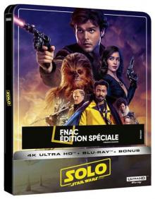 Solo : A Star Wars Story (2018) de Ron Howard - Steelbook Édition Spéciale Fnac - Packshot Blu-ray 4K Ultra HD