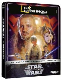 Star Wars, épisode I – La Menace fantôme (1999) de George Lucas - Steelbook Édition Spéciale Fnac - Packshot Blu-ray 4K Ultra HD