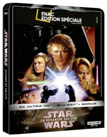 Star Wars, épisode III – La Revanche des Sith (2005) de George Lucas - Steelbook Édition Spéciale Fnac - Packshot Blu-ray 4K Ultra HD