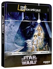 Star Wars, épisode IV : Un nouvel espoir (1977) de George Lucas - Steelbook Édition Spéciale Fnac - Packshot Blu-ray 4K Ultra HD