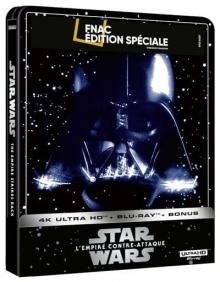 Star Wars, épisode V : L'Empire contre-attaque (1980) de Irvin Kershner - Steelbook Édition Spéciale Fnac - Packshot Blu-ray 4K Ultra HD