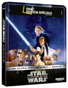 Star Wars, épisode VI : Le Retour du Jedi (1983) de Richard Marquand - Steelbook Édition Spéciale Fnac - Packshot Blu-ray 4K Ultra HD