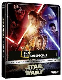 Star Wars, épisode VII – Le Réveil de la Force (2015) de J.J. Abrams - Steelbook Édition Spéciale Fnac - Packshot Blu-ray 4K Ultra HD