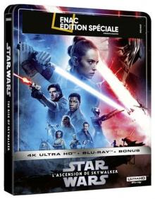 Star Wars, épisode IX – L'Ascension de Skywalker (2019) de J.J. Abrams - Steelbook Édition Spéciale Fnac - Packshot Blu-ray 4K Ultra HD