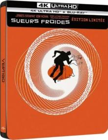 Sueurs froides (1958) de Alfred Hitchcock - Édition boîtier SteelBook – Packshot Blu-ray 4K Ultra HD