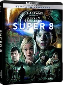 Super 8 (2011) de J.J. Abrams – Édition boîtier SteelBook 10ème Anniversaire - Packshot Blu-ray 4K Ultra HD