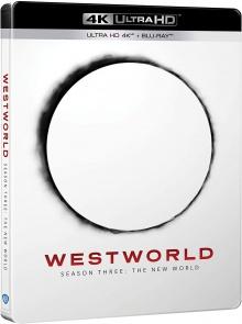 Westworld - Saison 3 : Le Nouveau Monde (2020) de Jonathan Nolan et Lisa Joy – Packshot Blu-ray 4K Ultra HD