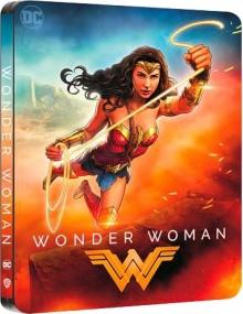 Wonder Woman (2017) de Patty Jenkins - Édition Comic Steelbook - Packshot Blu-ray 4K Ultra HD