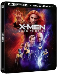 X-Men : Dark Phoenix (2019) de Simon Kinberg – Édition boîtier SteelBook - Packshot Blu-ray 4K Ultra HD